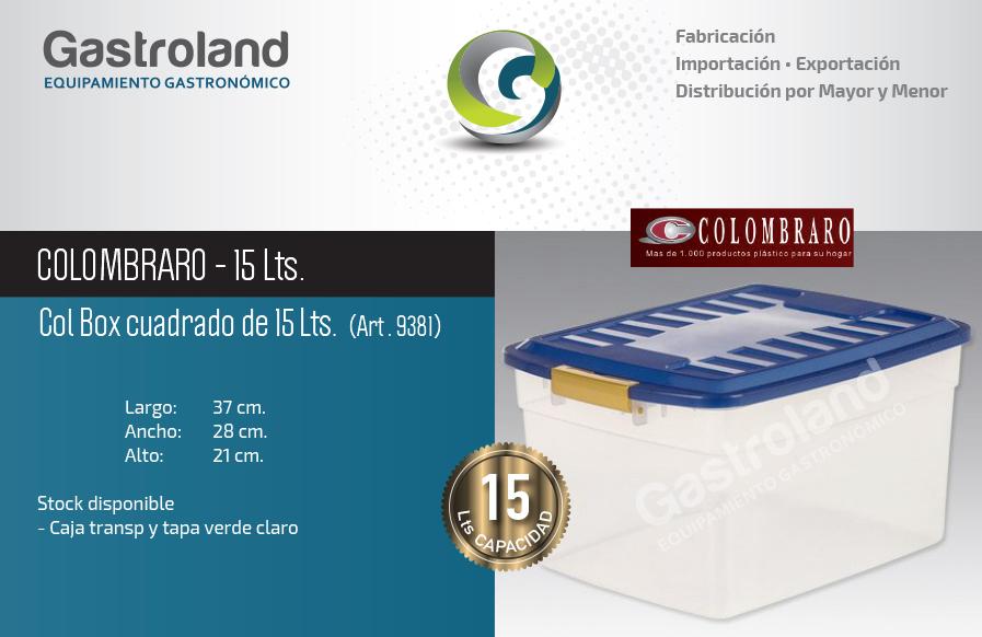 10 Cajas De Plastico Apilable 15lts Colombraro  ARGENSHOP