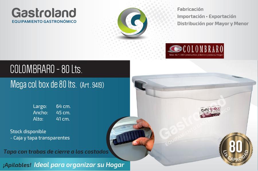 Caja De Plástico 80 Lts Apilable Organizadora Colombraro  ARGENSHOP