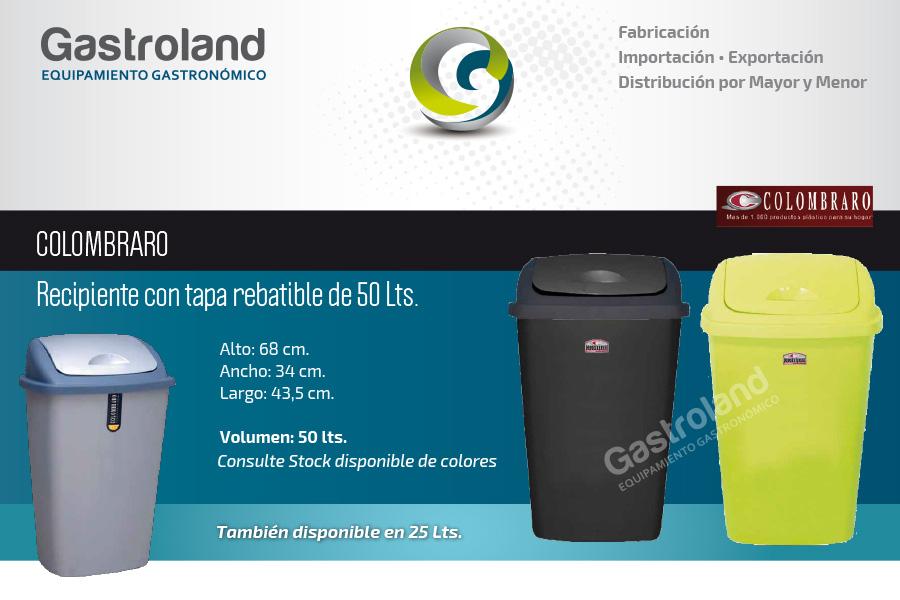 10 Cestos P Residuos 50lts Colombraro Tacho De Basura  ARGENSHOP